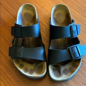 Classic black leather Birkenstock